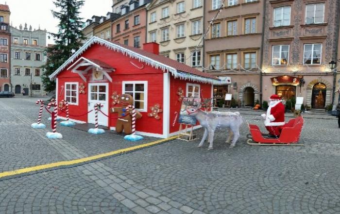 Wynajem domku Świętego Mikołaja