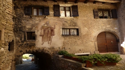 Scenografia średniowiecznej wioski
