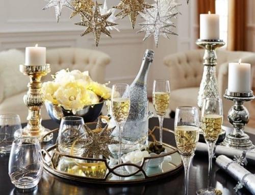 Elementy dekoracyjne na imprezę sylwestrową