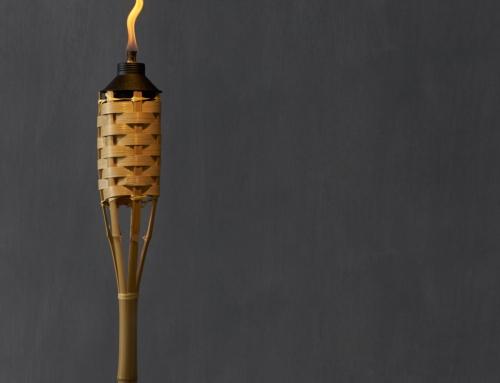Pochodnie bambusowe na wieczorny event