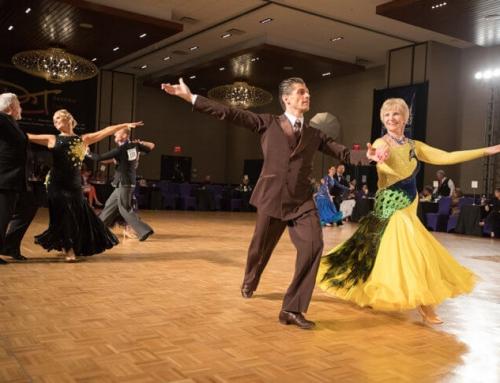 Pokaz tańca towarzyskiego na evencie firmowym