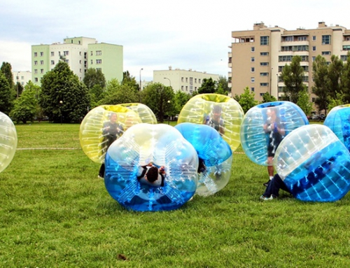 Bubble football na evencie firmowym