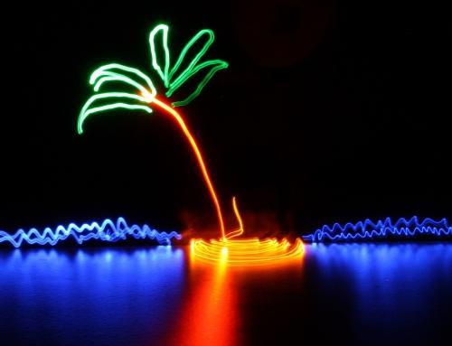Malowanie światłem na żywo