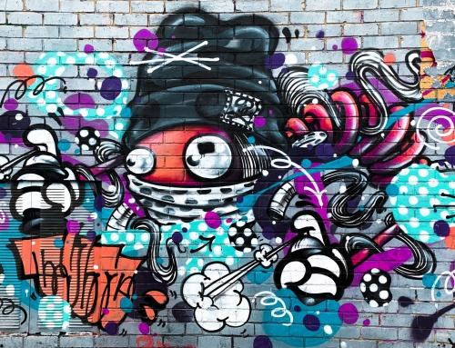 Wspólne malowanie, czyli graffiti na wyjeździe firmowym