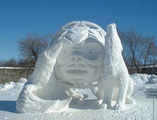 Rzeźby w lodzie nawet latem