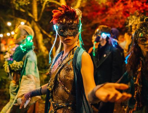 Impreza w środku lasu